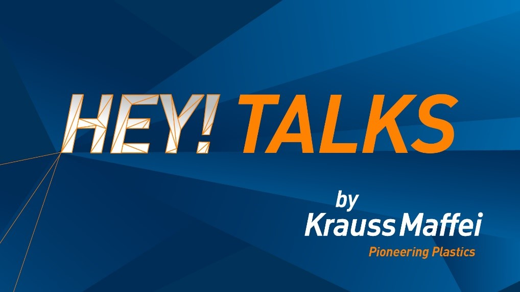 KraussMaffei invitation to the new digital online format HEY! TALKS from 20 – 22 October 2020. (Source: KraussMaffei)