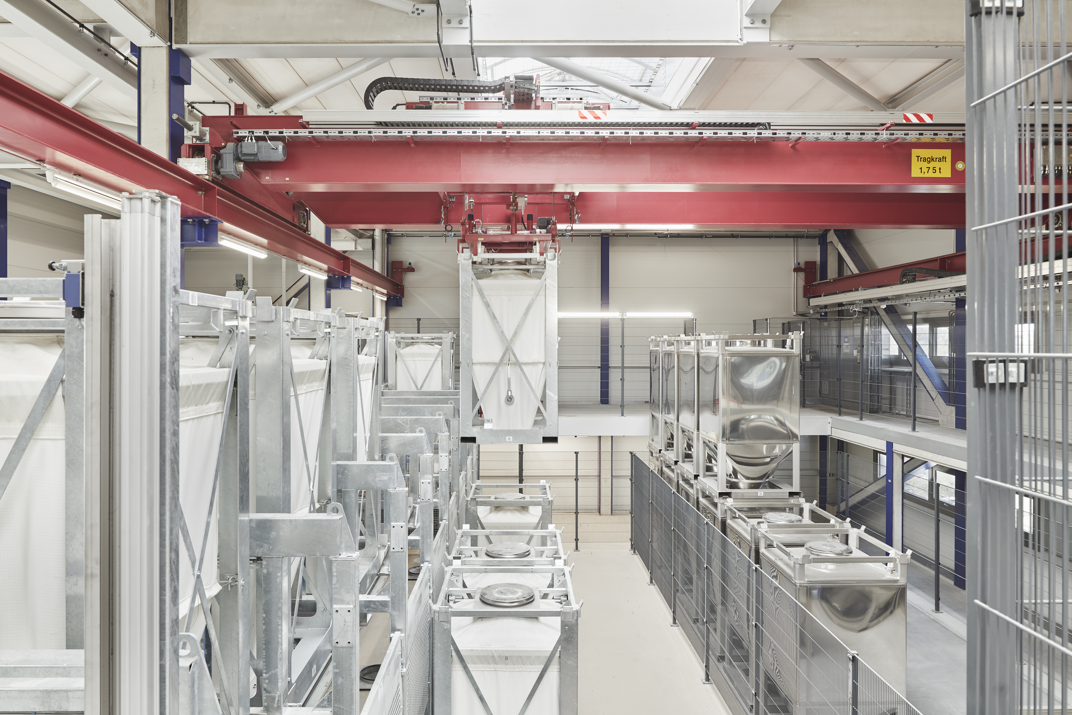 The facility features a modular, fully automated mixing, grinding and pelleting operation. (Source: Brüggemann)