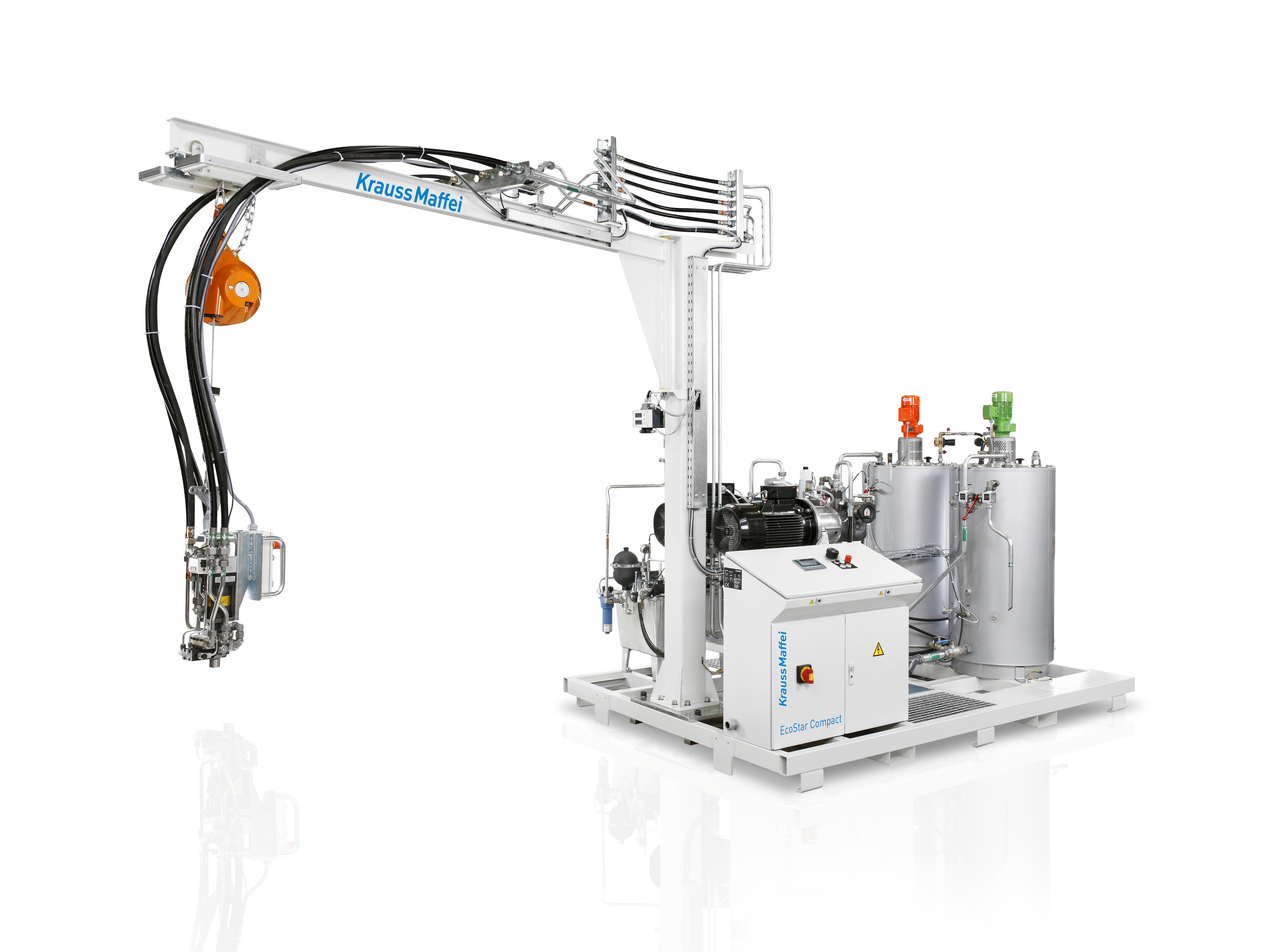 The EcoStar Compact offers PU processing technology for limited budgets. (Source: KraussMaffei)