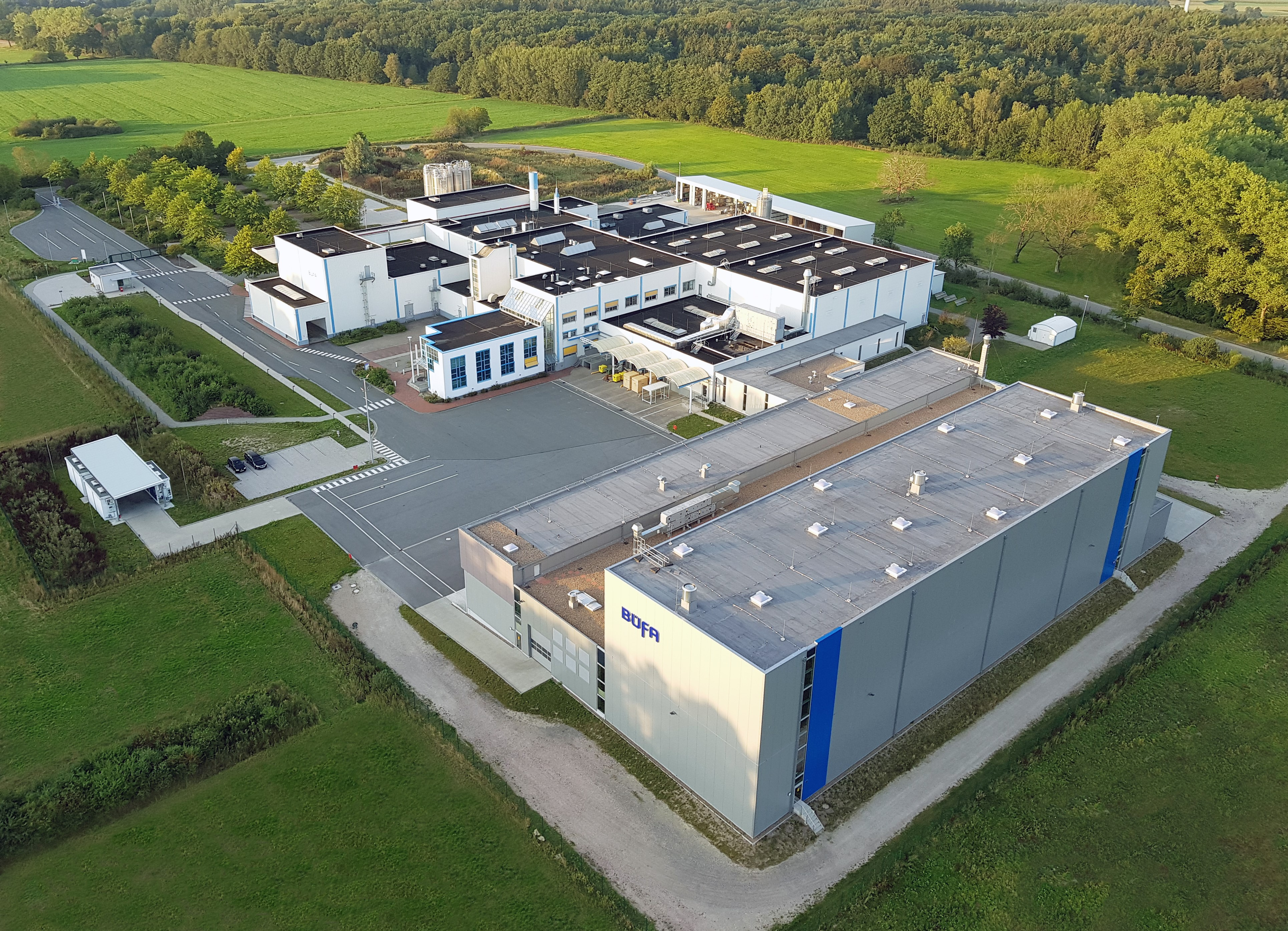 Aerial view of Büfa Composite Systems in Rastede-Liethe, Germany (Source: Büfa)