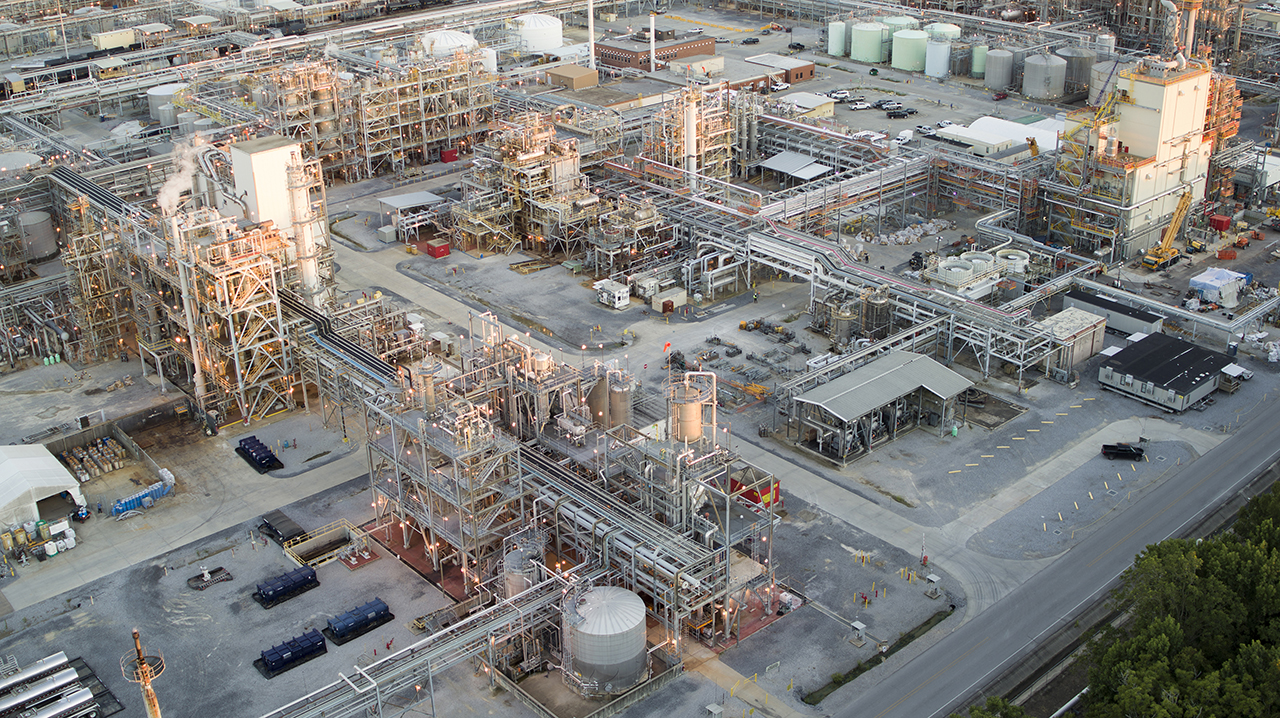 The implementation of the MDI capacity increase programme for production facilities at BASF's Verbund site in Geismar, LA, USA, is progressing on schedule. (Source: BASF)