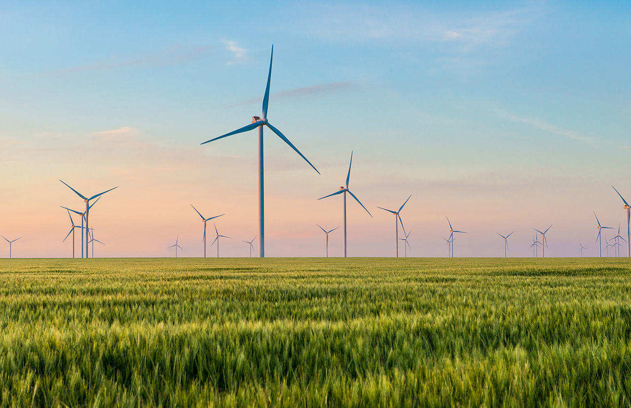 Thermoplastic materials, such as Divinycell PY PET foam featuring LNP Colorcomp compound can help extend the useful lifespan of wind turbines. (Source: Diab)