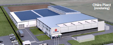 Rendering of TGEJ's new plant for automotive interiors and exteriors in Ohira, Japan. (Source: Toyoda Gosei)