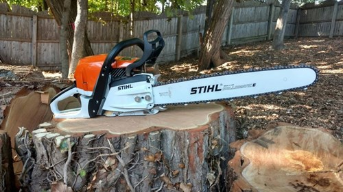 Stihl is a manufacturer of chainsaws and other outdoor equipment, including brush cutters, lawnmowers and blowers. (Source: Radici)