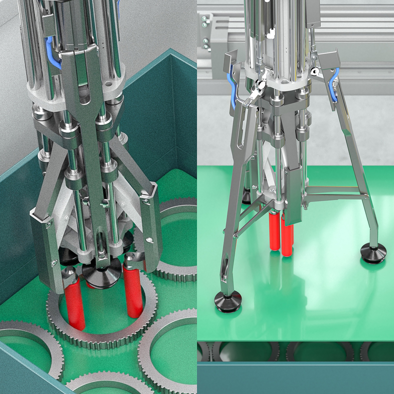 The system is equipped with two different gripper types (Source: Wickert)
