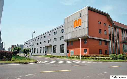 Der Standort der Maplan (Changzhou) Rubber Machinery Co Ltd, Wujin Hi-Tech Zone