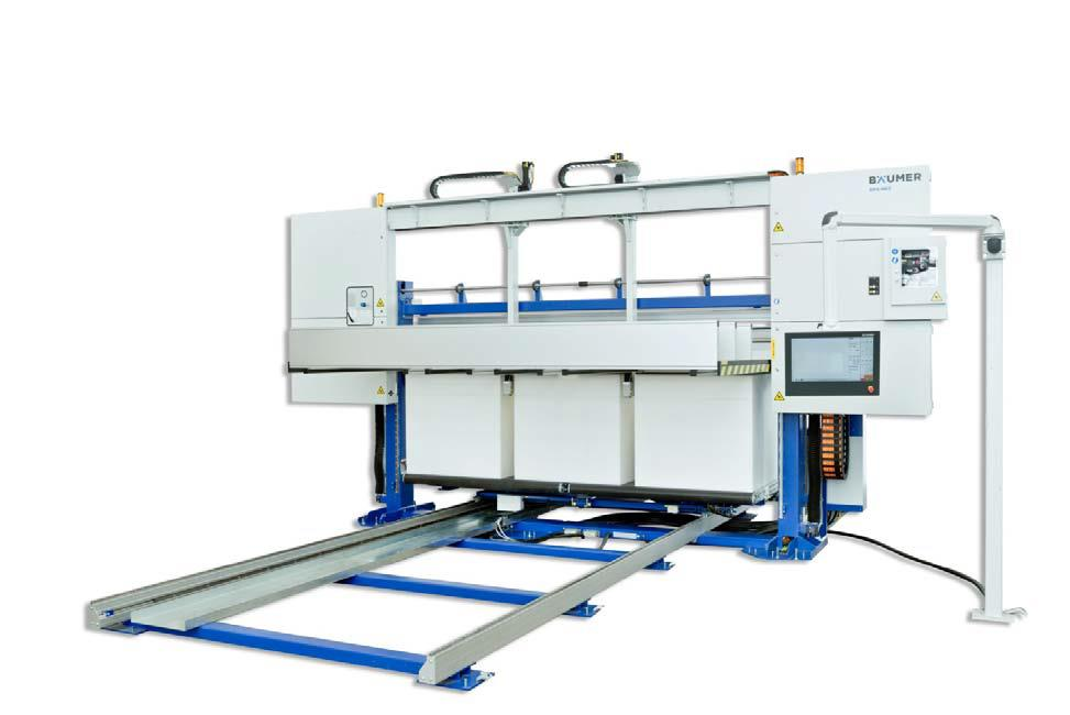 Bäumer's horizontal contour cutting machine OFS-HE3 with 3,400 mm block width (Source: Bäumer)