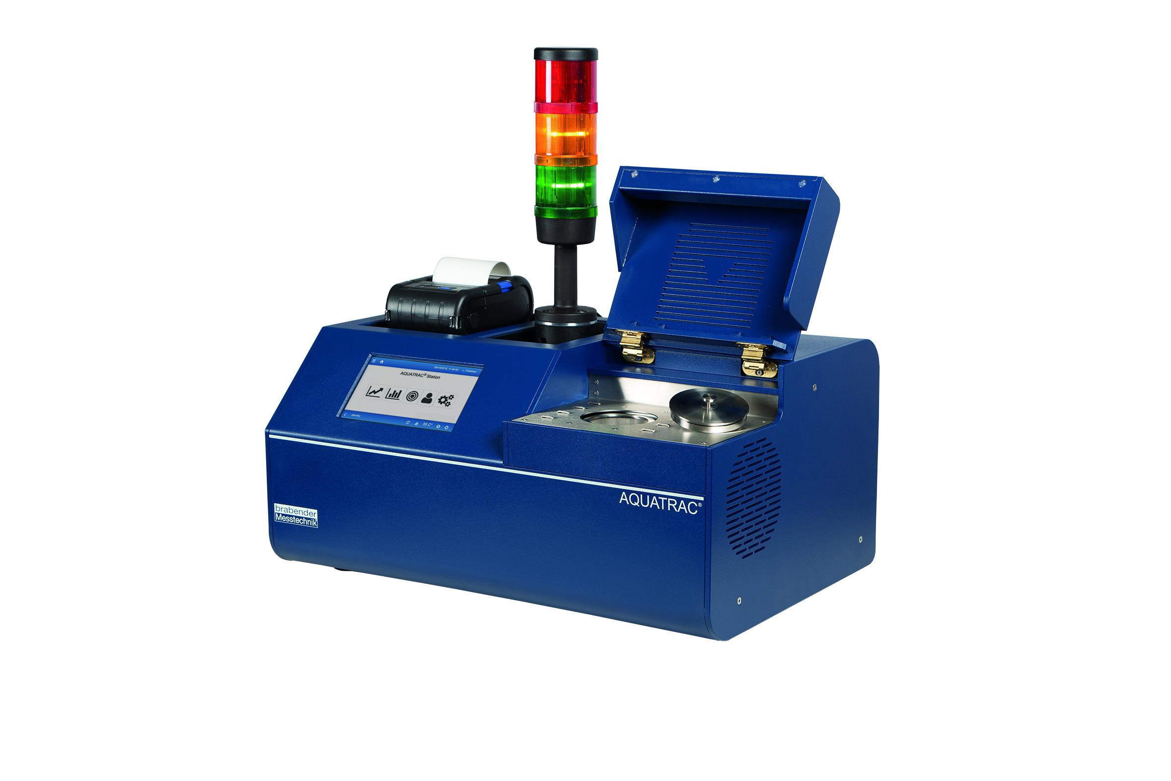 The Aquatrac Station determines the residual moisture in polymers via dew point measurement. (Source: Brabender)