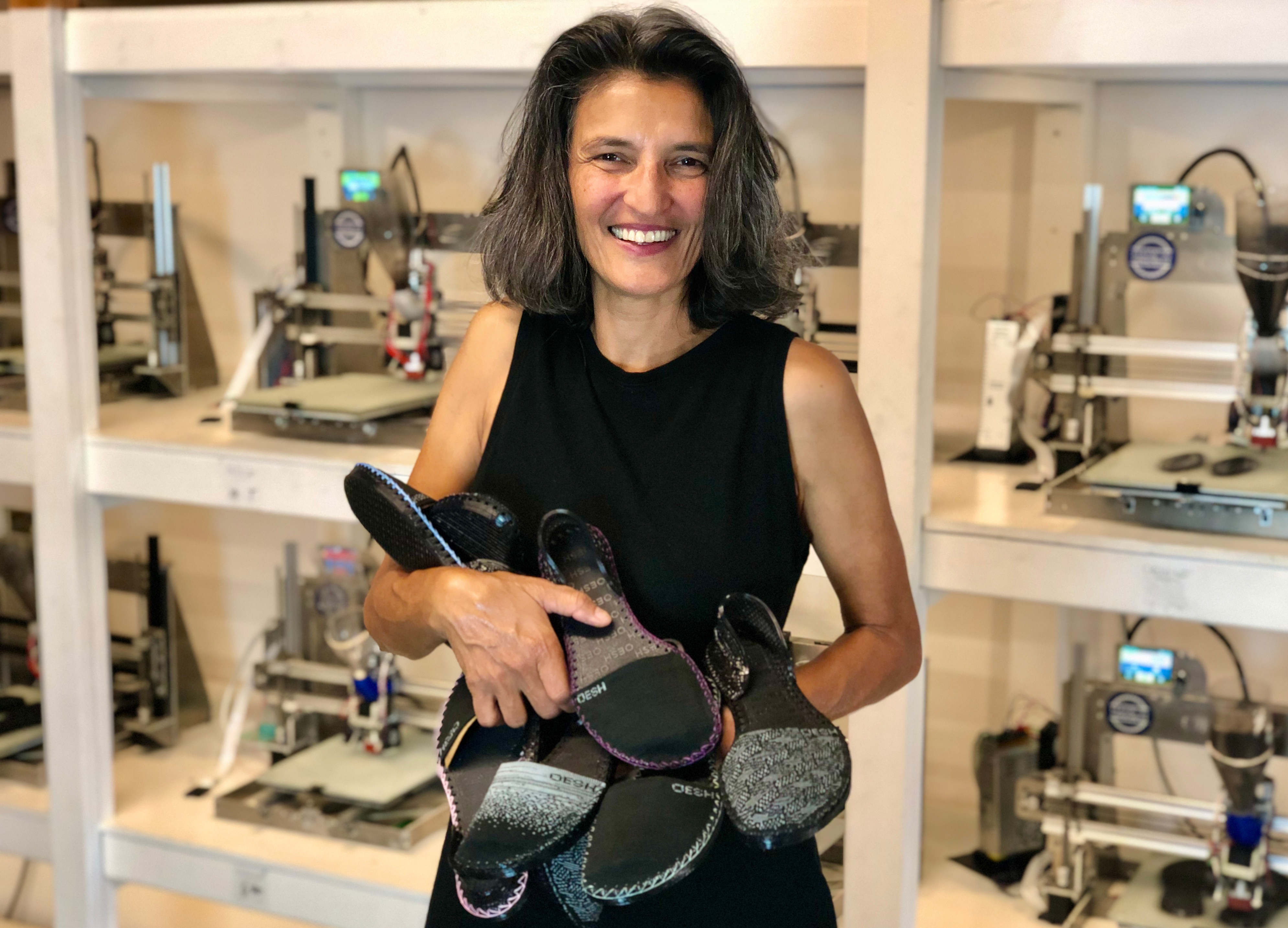 After twenty years of research studying human motion and forces during walking and running, Harvard M.D. Dr. Casey Kerrigan developed Oesh Shoes. (Source: Oesh Shoes)