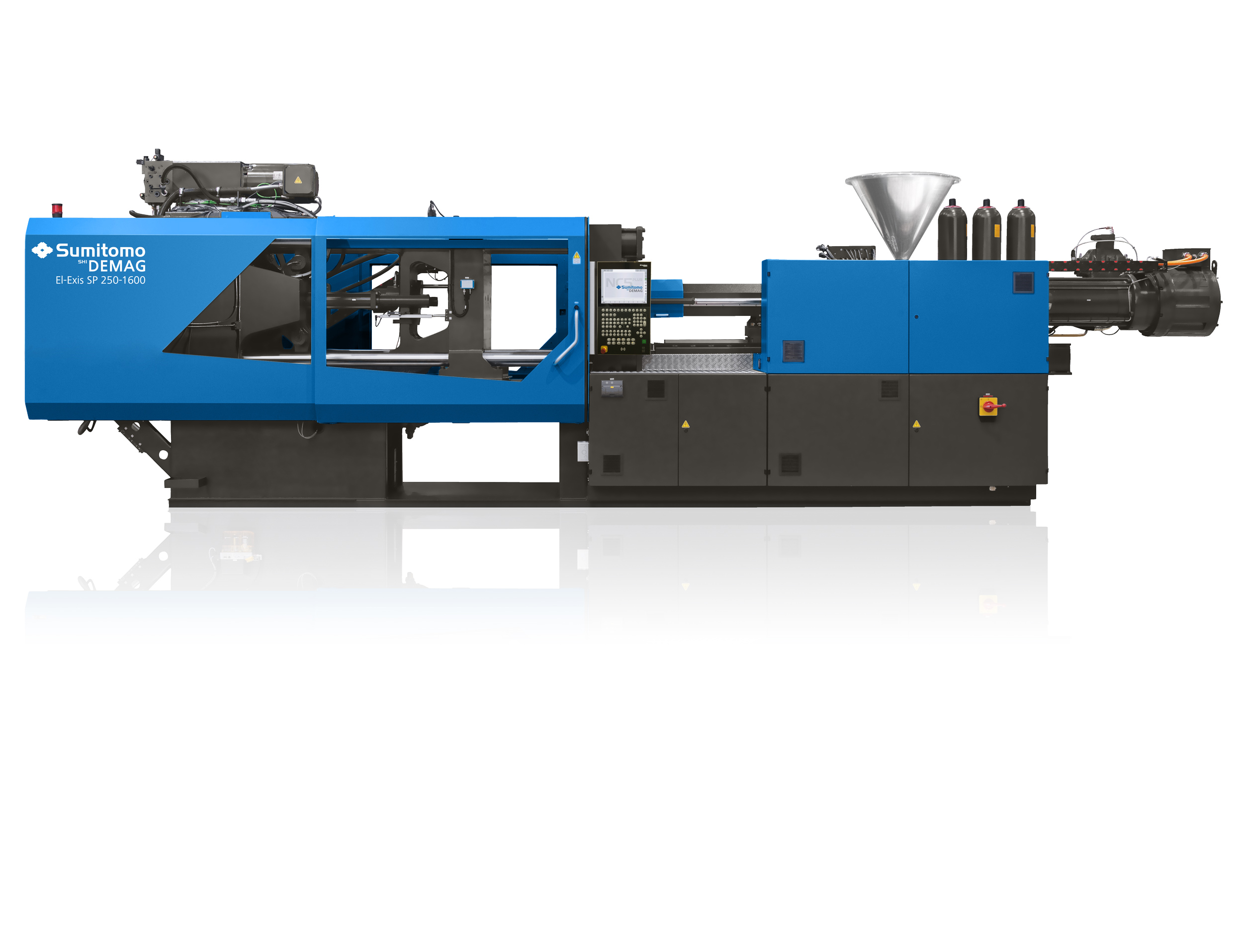 The El-Exis SP can be viewed at Fakuma together with the material-saving injection compression moulding of thin-walled lids decorated with in-mould labels (Source: Sumitomo (SHI) Demag)