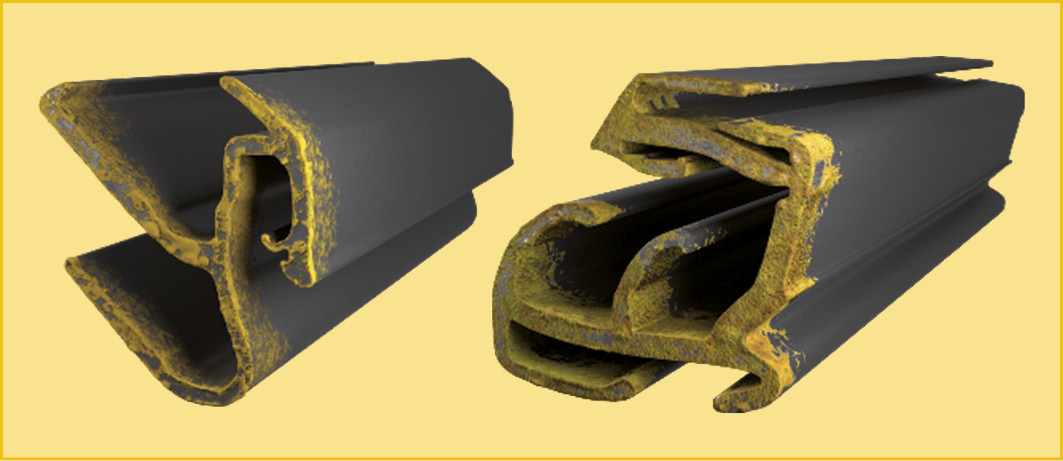 Electrochemical corrosion on the EPDM rubber sealing