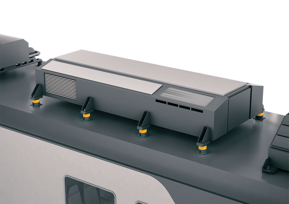 Istotop DZE Railway is designed to be fitted to train sets to prevent structure-borne noise and vibrations from propagating into the passenger area (Source: Getzner)
