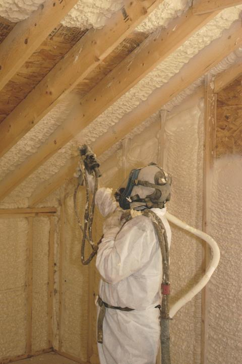 Foam-LOK 500 is a spray applied product designed to seal the building envelope and enhance energy savings in the structure. (Source: Lapolla)