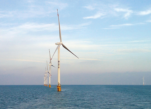 Offshore wind turbines have to withstand the salty sea air. (Source: Goldwind)
