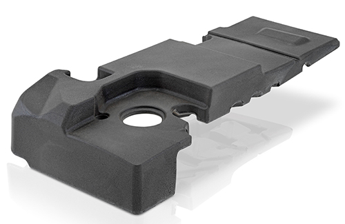 Component made of polyurethane foam with expandable graphite as filler (Source: KraussMaffei)