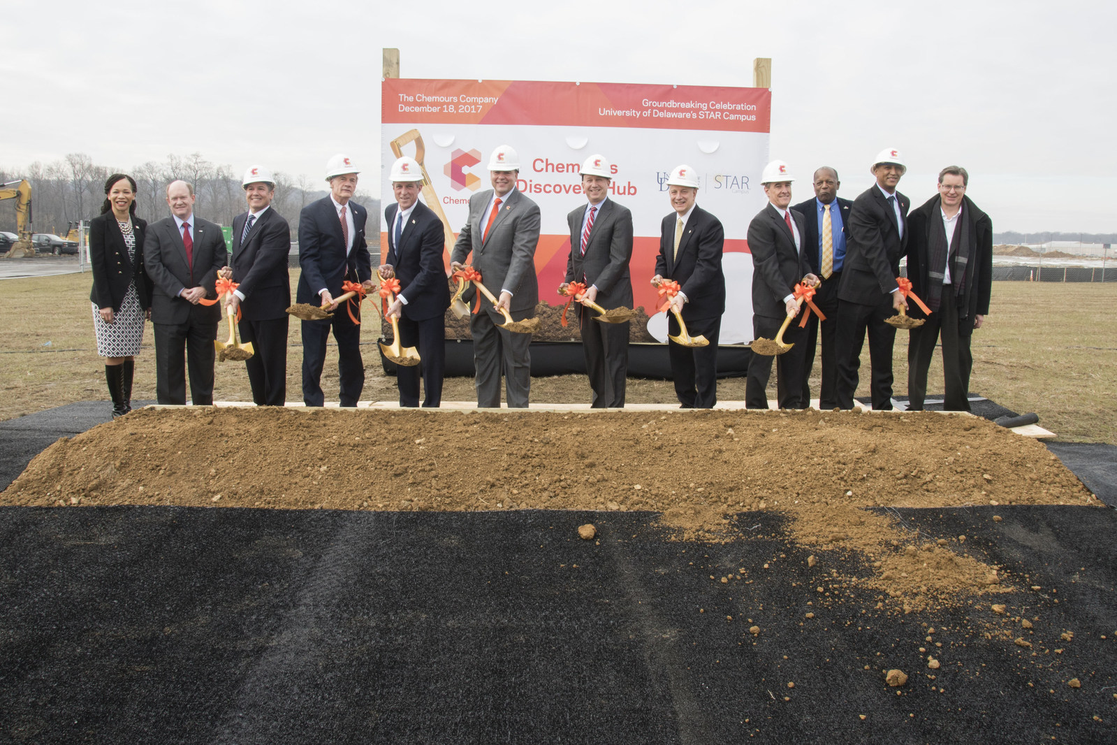 Ground breaking of the new Chemours Discovery Hub at the University of Delaware's STAR Campus (Source: Chemours)