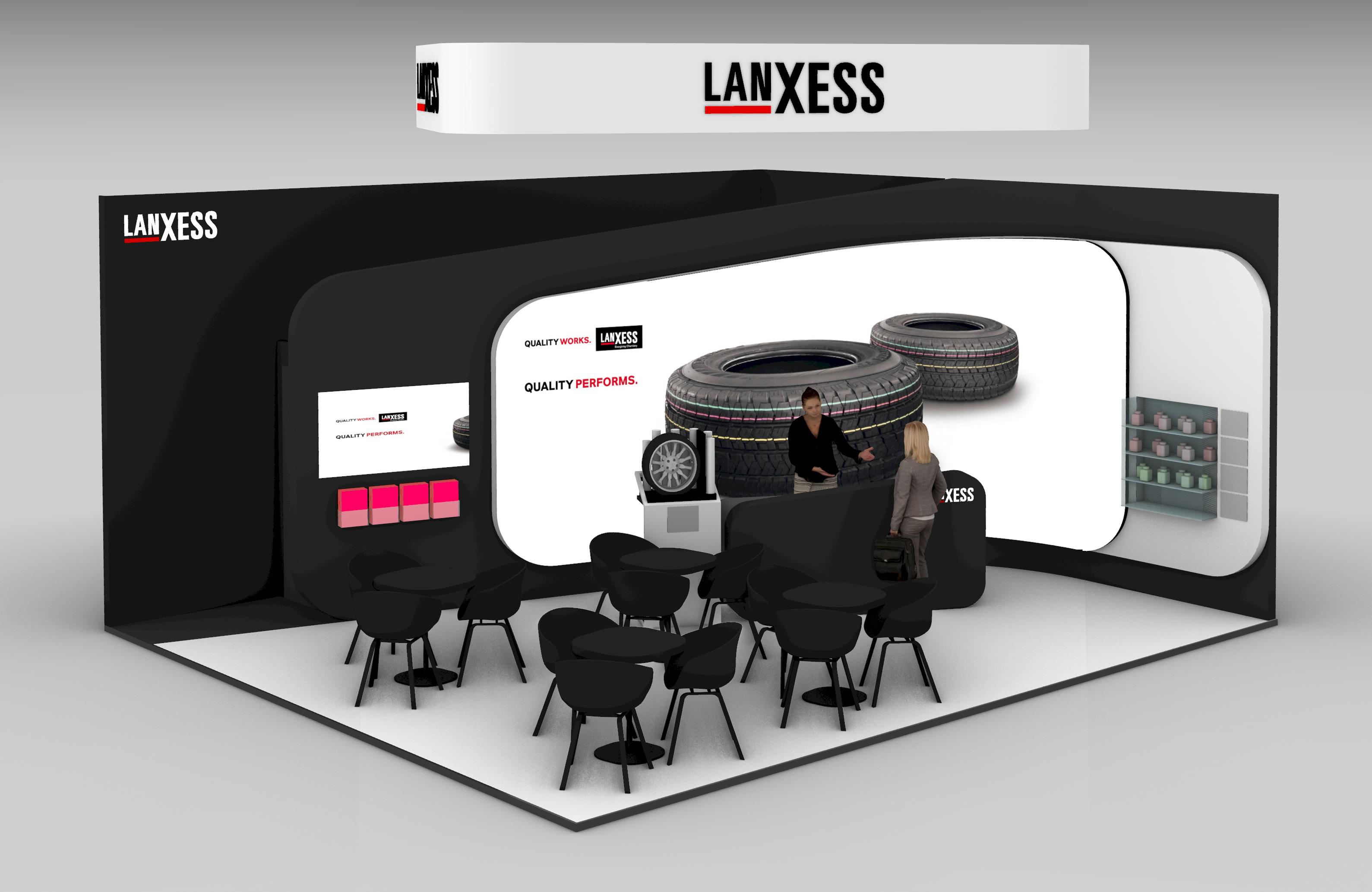 At the TTE 2019 Lanxess is presenting its extensive product range and versatile solutions for tyre manufacturing. (Source: Lanxess)