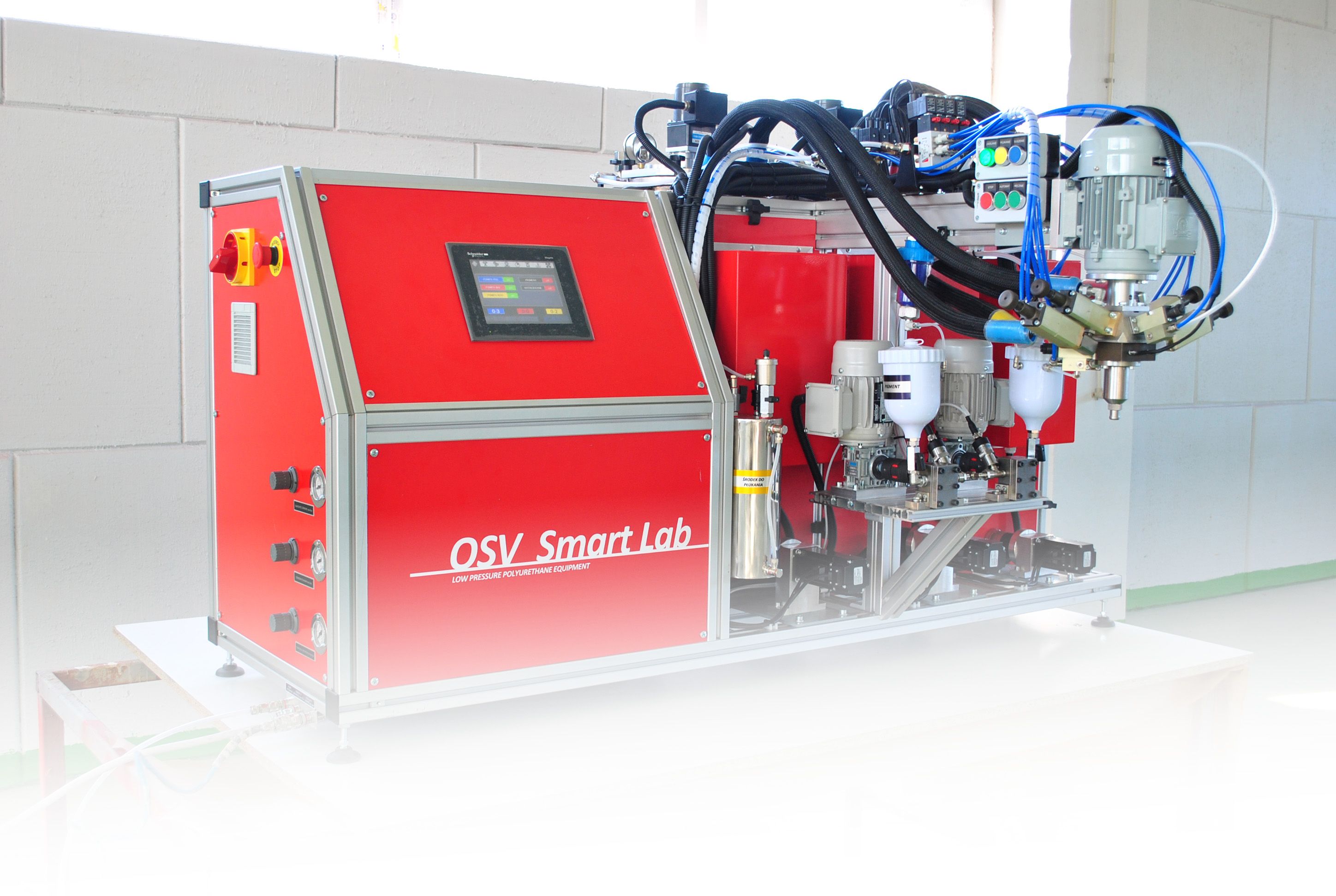 Processing multicomponent quasi MDI polyurethane systems for lab and