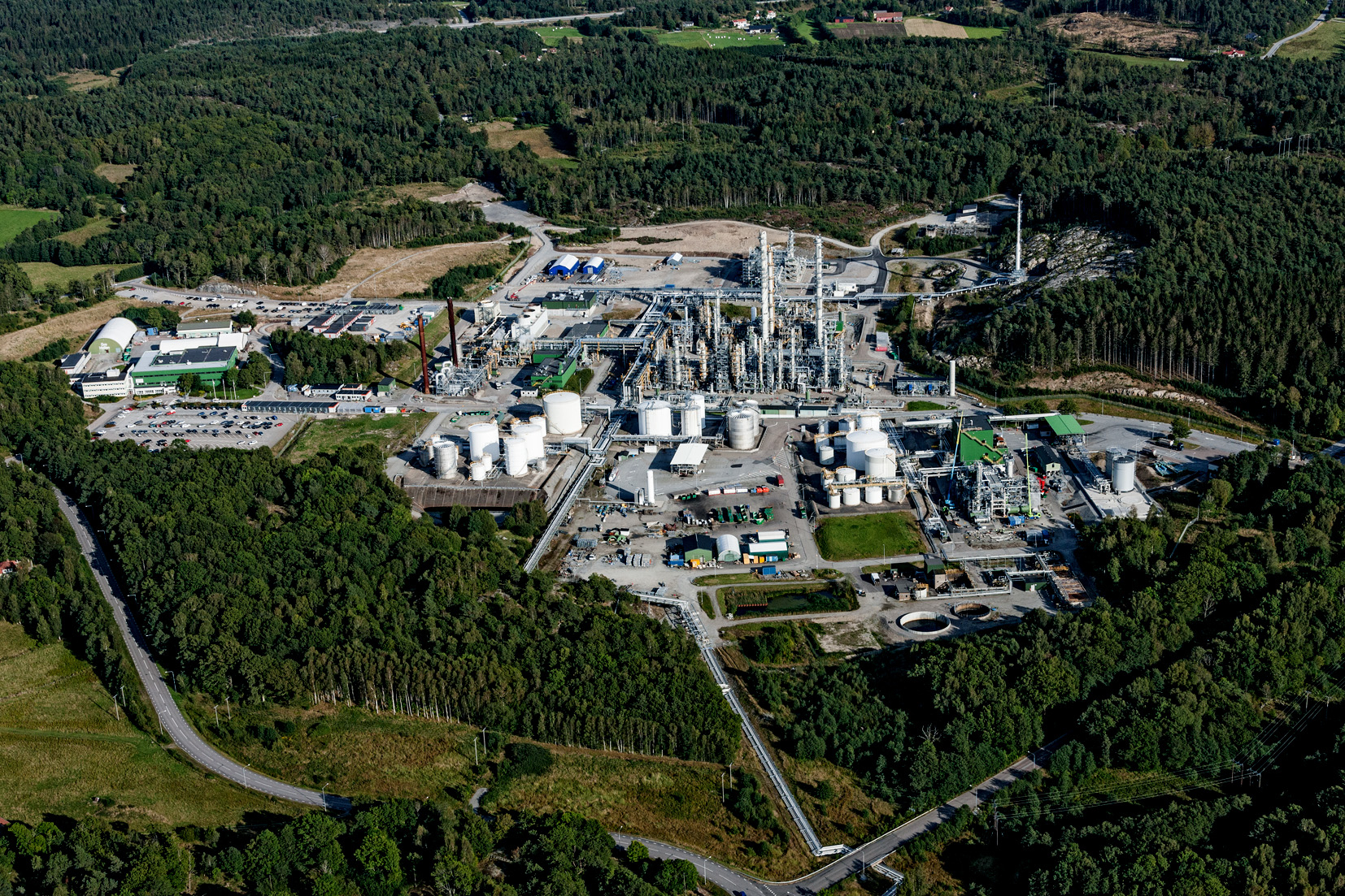 Perstorp will investigate the potential production of recycled methanol, using carbon dioxide and residual streams, at its Swedish facility in Stenungsund (Source: Perstorp)
