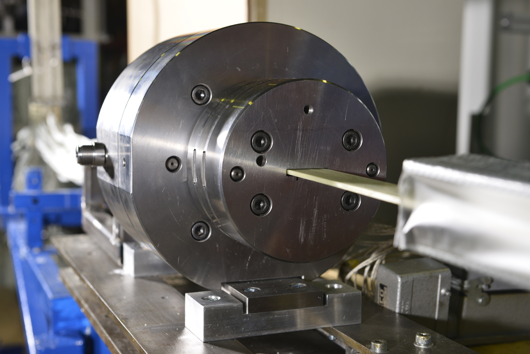 Pultrusion plant in the IKV technology centre for composites (Source: IKV/Fröls)