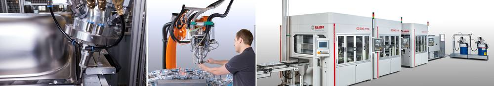The product portfolio of Rampf Production Systems encompasses more than 2,800 system solutions – from simple handsets to fully automated production systems. (Source: Rampf)