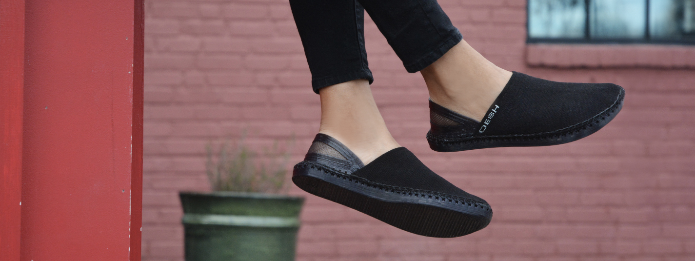 Oesh Shoes has been evaluating how Huntsman's TPU elastomers can be used to create a 100 % recyclable shoe sole via 3D printing. (Source: Oesh Shoes)