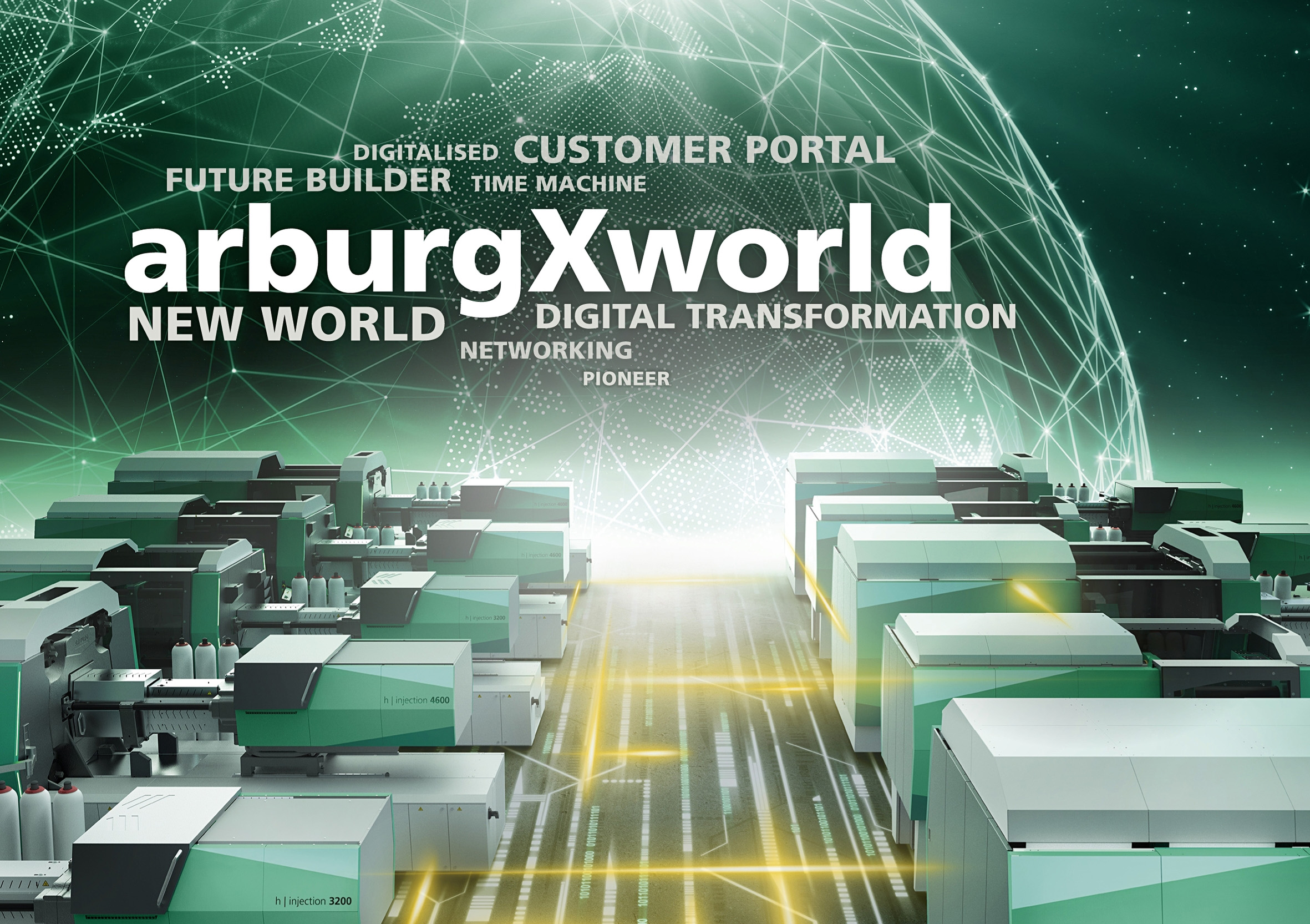 """With """"arburgXworld"""", visitors at K 2019 will experience the range of digital products and services, part of which is the customer portal of the same name. (Source: Arburg)"""