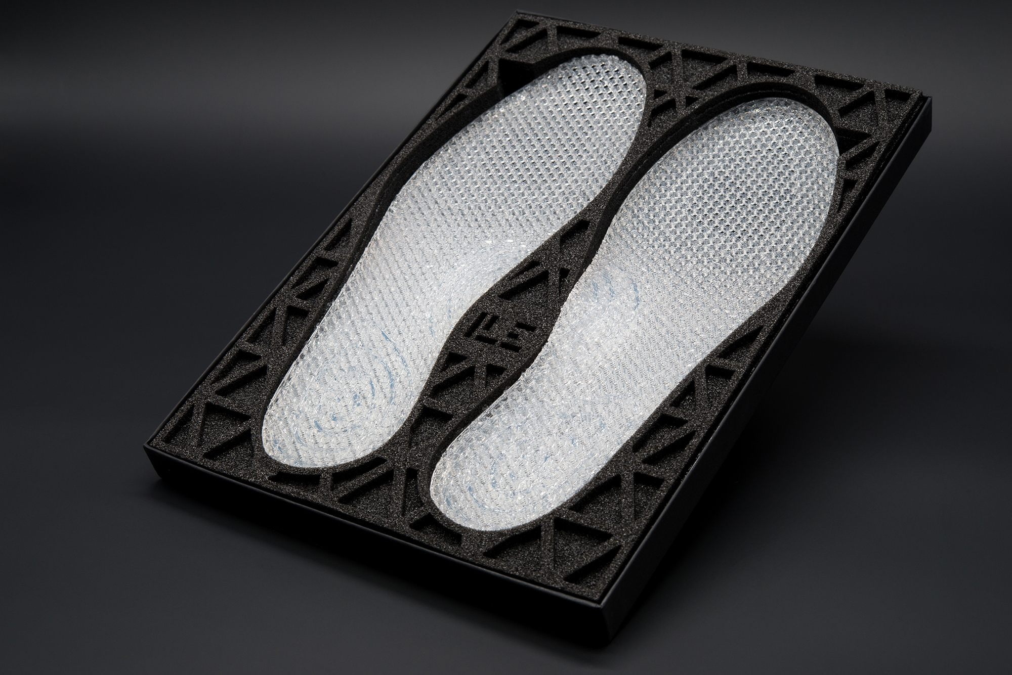 Silicone midsoles are 3D-printed live at Ecco's concept store. (Source: Ecco)