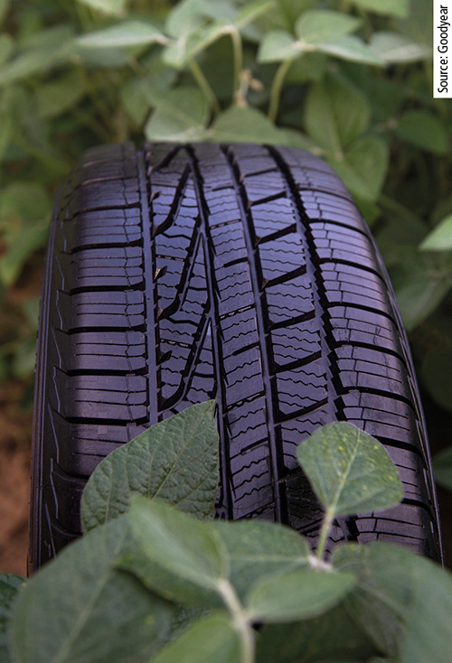 Goodyear has developed a soybean ­oil-based tread compound, which helps ­enhance the tyre performance in dry, wet, and winter conditions.