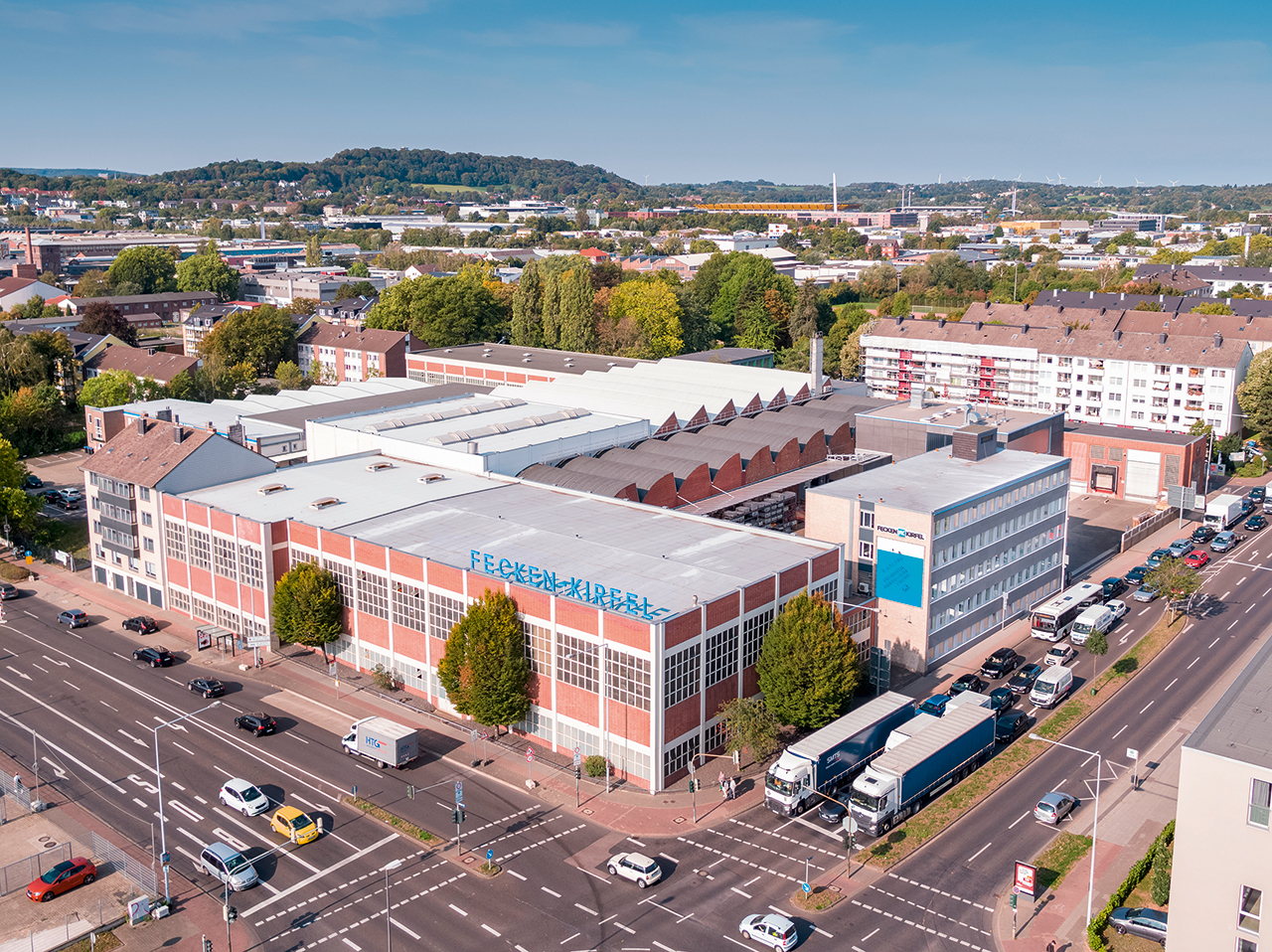 Since 1938 Fecken-Kirfel has been at home on the Prager Ring in Aachen, Germany. Since then the production plant has been continuously expanded and modernised. (Source: Fecken-Kirfel)