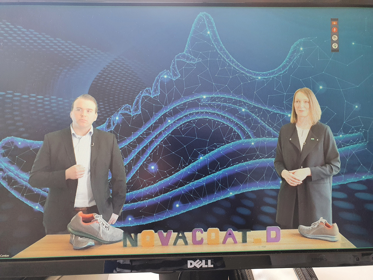 Virtual product launch of NovaCoat-D with Tim Claus Bardenhagen (Desma) and Dr. Karin Reuter (BASF). (Source: sw)