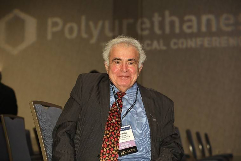 Dr. Hamdy Khalil at the CPI Polyurethanes Technical Conference 2021 (Source: ACC CPI)