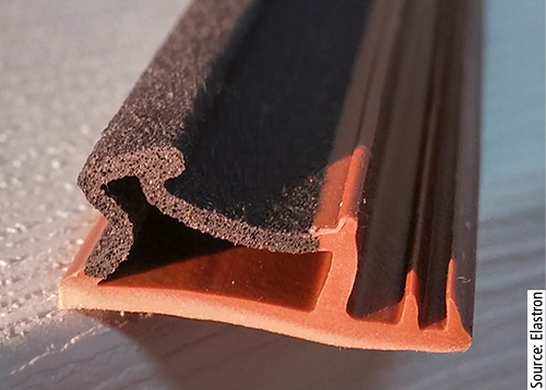 Elastron has developed  foamable TPEs for extrusion.