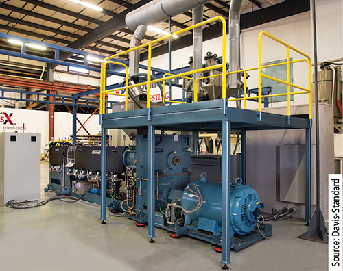 Davis-Standard's Thermatic Series extruder is available for trials at its site in Pawcatuck.