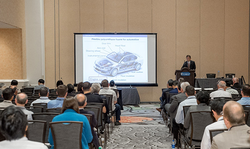Attendees during a technical session at the 2019 Polyurethanes Technical Conference. (Source: CPI)