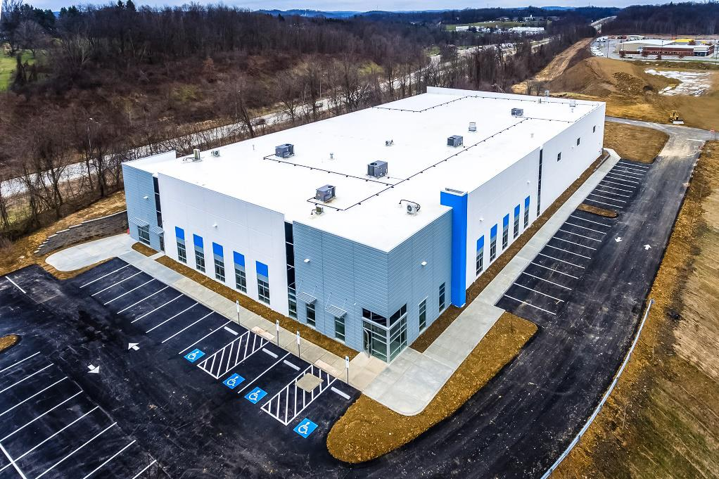 Hennecke Group's new North American headquarters in Bridgeville, PA, USA, just before finishing touches were added in February 2019 (Source: Hennecke)